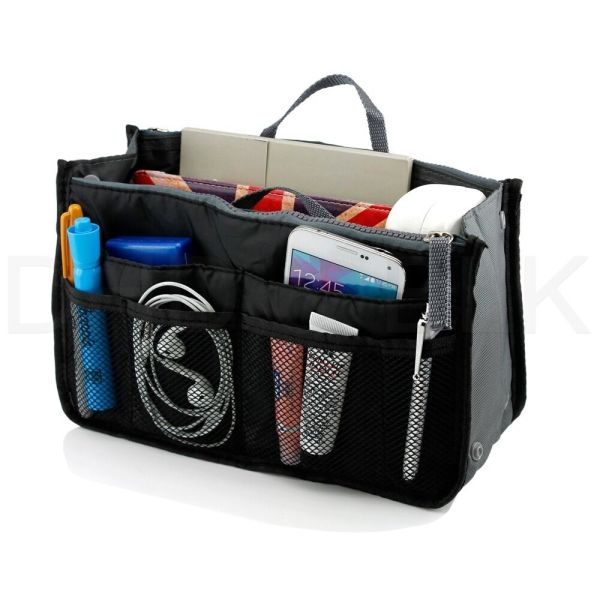 Women Lady Travel Insert Handbag Organiser Purse Large Liner Organizer Tidy Bag 7