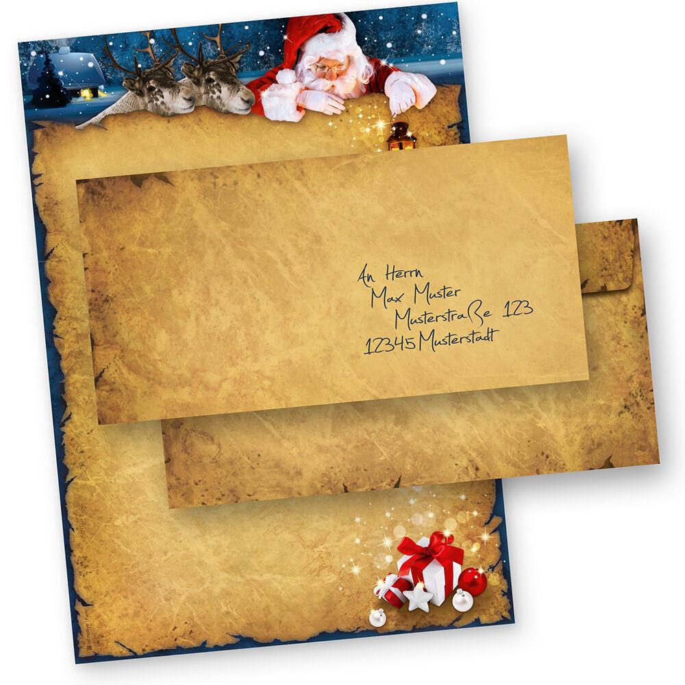 Weihnachtsbriefpapier NORDPOL-EXPRESS Briefpapier für Weihnachten geschäftlich