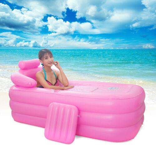 Aufblasbare Badewanne For Erwachsene Schwimmbecken Faltbare Mobile Bathtub Pink