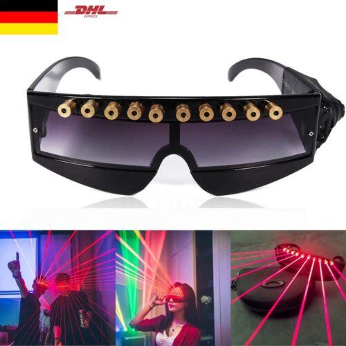 Bühnenbeleuchtung LED Laser Brille Weihnachten DJ Disco Party Lichteffekt Brille