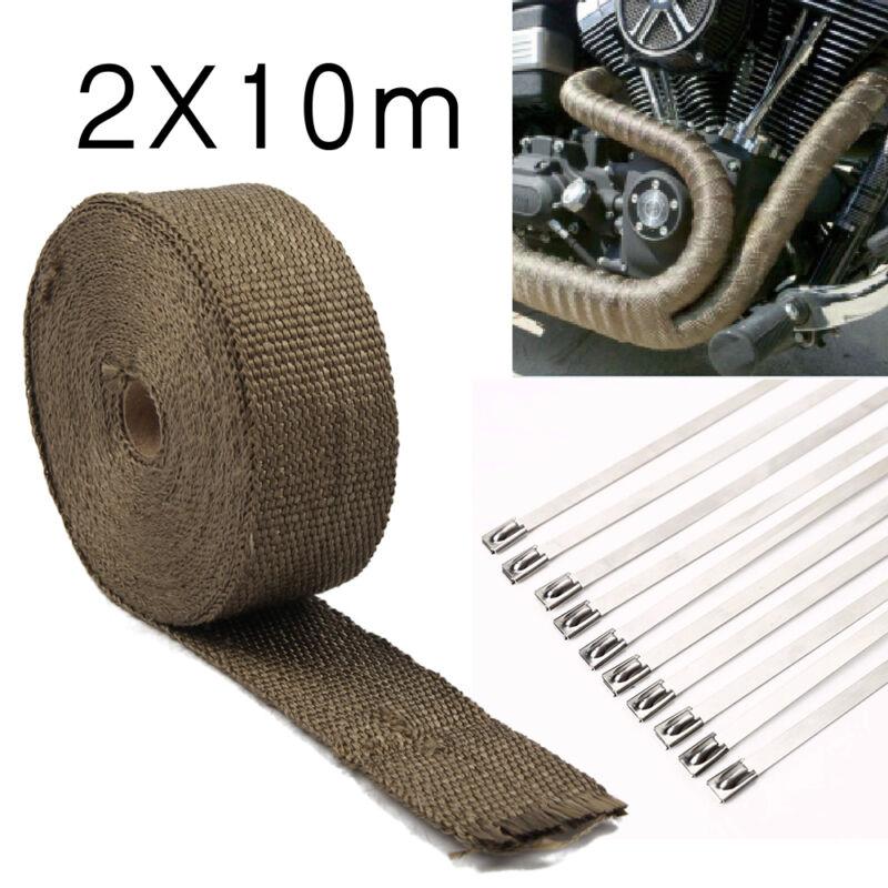 2x Hitzeschutzband breit bis 1400°Hitzeschutz Heat Wrap Krümmer 10M