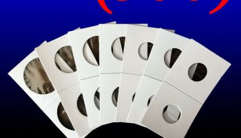 50 Pieces 2x2 Cardboard Coin Holder Collection Mylar Flip Cover Coin Storage 35mm