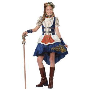 Tween Girl Steampunk Fashion Halloween Costume