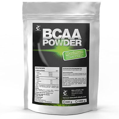 1000g BCAA 100% Pures PULVER 2:1:1 L-Leucin L-Valin L-Isoleucin Muskelaufbau 1kg