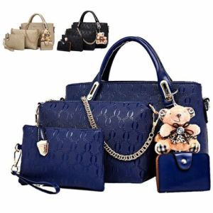5Pcs/Set Women Lady Leather Handbags Messenger Shoulder Bags Tote Satchel Purse