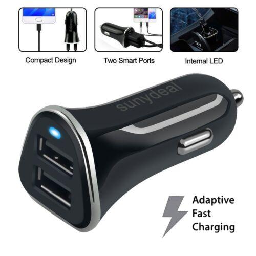 4.8A Dual Auto Kfz Ladegerät Zigarettenanzünder 2x USB Adapter Ladeadapter Handy