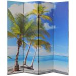 Legacy Decor 4, 6, 8 Panel Canvas Room Screen Divider Double-Sided Virgin Island