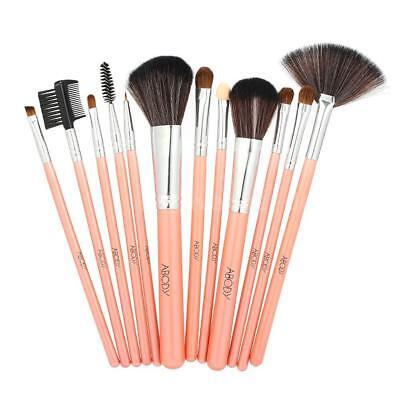 12pcs Make-up Pinsel Set Powder Foundation Lidschatten Eyeliner Lip Brush H4M1