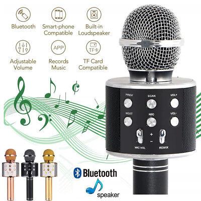 Bluetooth Karaoke Mikrofon Handmikrofon Lautsprecher Player Kabellos Tragbar