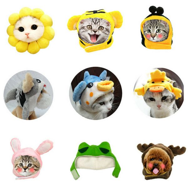 1Pet Dog Cat Hat Headgear Costume Funny Animals Cap Halloween Party Decoration @ 1