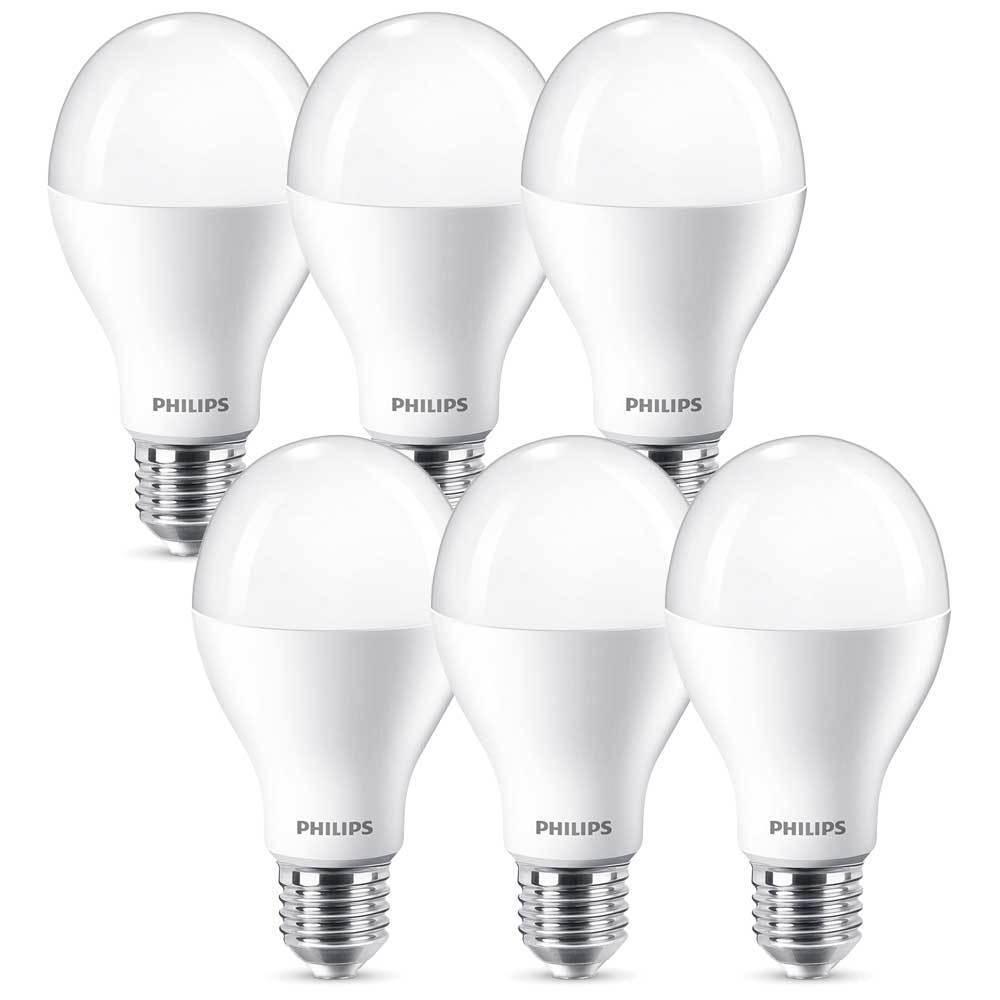 6 x Philips LED Birnenform A67 16W = 100W E27 matt 1521lm warmweiß 2700K DIMMBAR