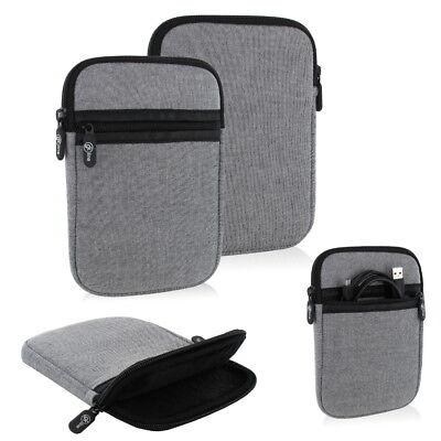 gk line Tasche Etui Hülle Case Ebook Reader für Tolino Shine 3 Schutzhülle grau