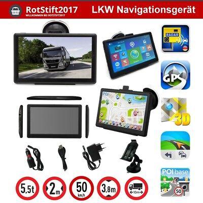 7 Zoll GPS Navigationsgerät für LKW PKW WOHNMOBIL BUS Radar Blitzer POI GPS