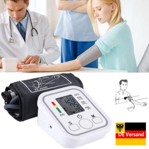 Digital Blutdruckmessgerät Blutdruckmesser Pulsmesser Oberarm Blutdruck Gerät DE