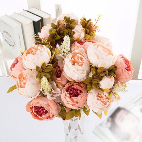 8Stk Künstliche Seidenblumen Pfingstrose Kunstblumen Blumenstrauß Strauß Dekor