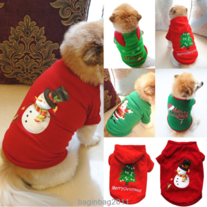 Christmas Pet Dog Cats Puppy Hoodies Sweater Xmas Coat Warm Clothes Costume New