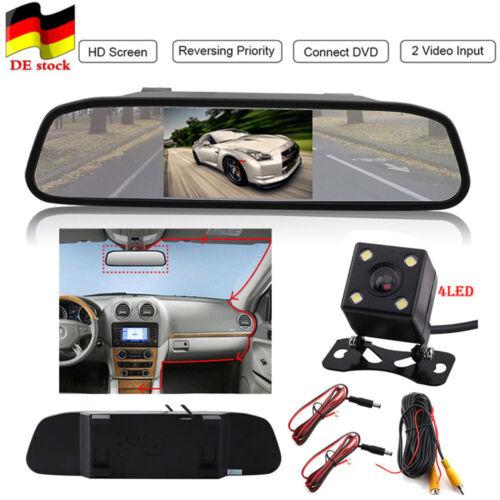 4.3'' HD Rückfahr kamera Reverse parking NachtSicht Auto KFZ Rückspiegel Monitor