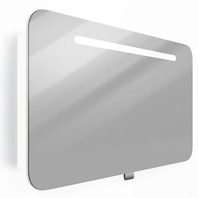 VICCO Spiegelschrank LED 80 cm Weiß Hochglanz - Badspiegel Badschrank Spiegel
