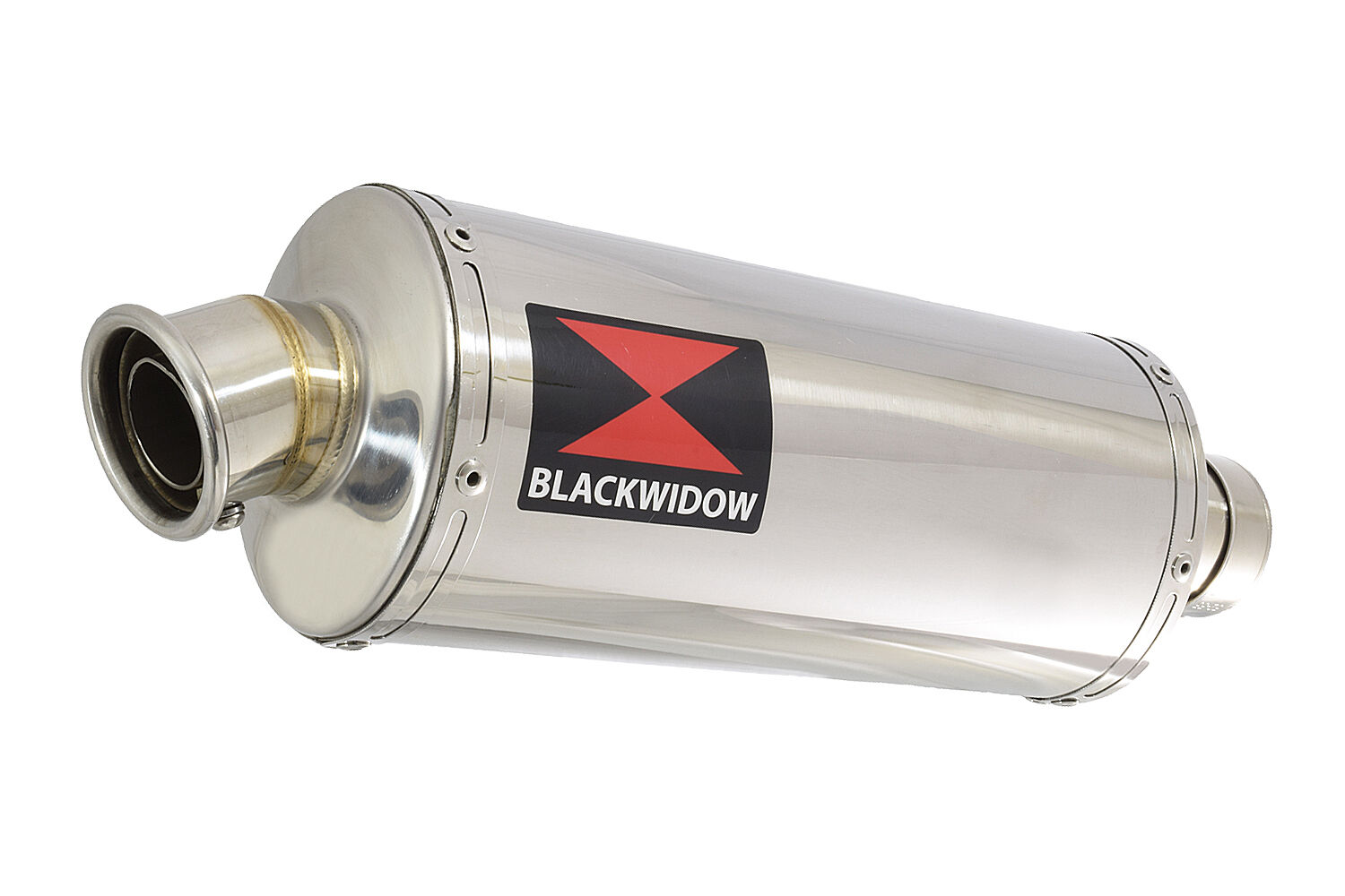 black widow stainless exhaust silencer