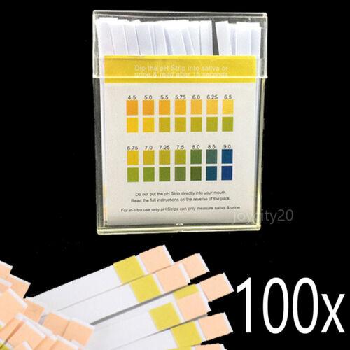 100 pH Tester Teststreifen Teststäbchen Indikatorpapier für Urin Speichel Wasser