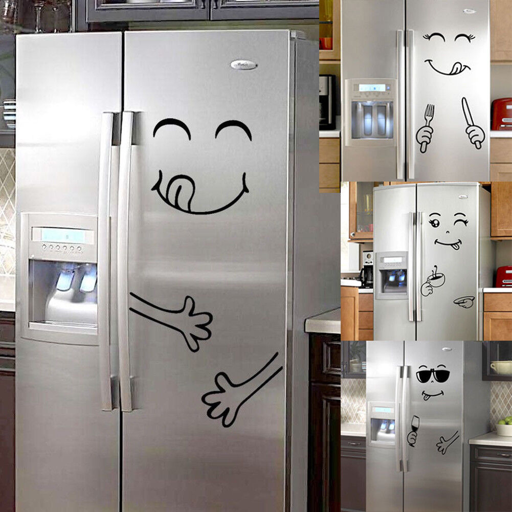 Nette Smiley Gesicht Kühlschrank Aufkleber Glücklich Sticker Küche Wandtattoo