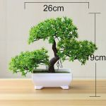 Artificial Pine Fake Potted Bonsai Tree Plant Office Desk Home Simulation Decor