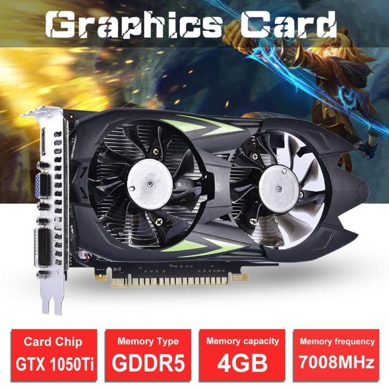 GeForce GTX1050TI 4GB GDDR5 128 Bits Gaming-Grafik Video Karte HDMI Für NVIDIA