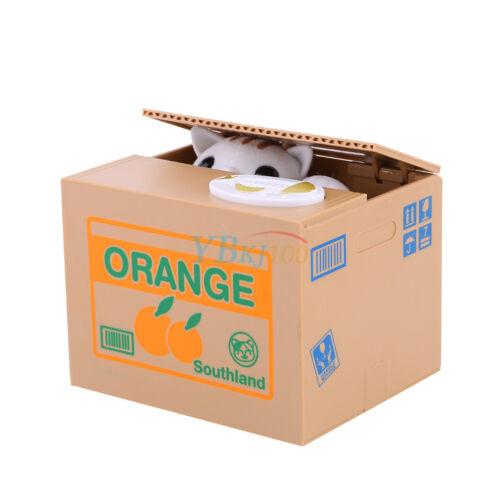 Elektrisch Sparbüchse Kinderspardose Spardose - Süße Katze stiehlt Münzen! NEU