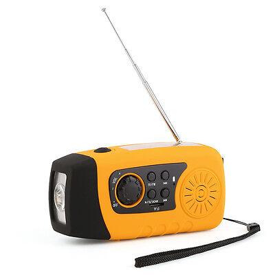 Kurbelradio AM FM Radio Taschenlampe Solarradio USB MP3 tragbar UKW MW TUNER T1