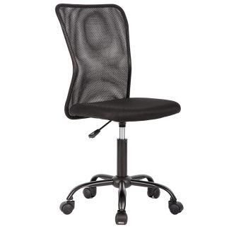 Black Mesh Office Chair Computer Middle Back Task Swivel Seat ErgonomicChair1265