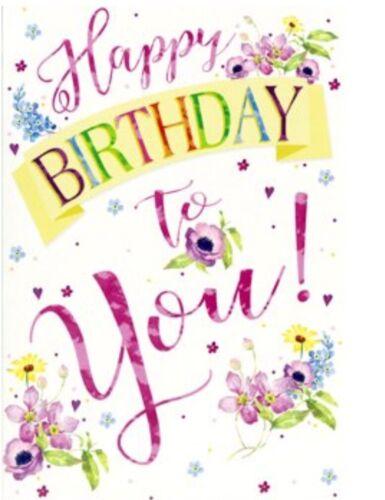 Female Birthday Card Happy Birthday To You By Greetings Free P P Ebay