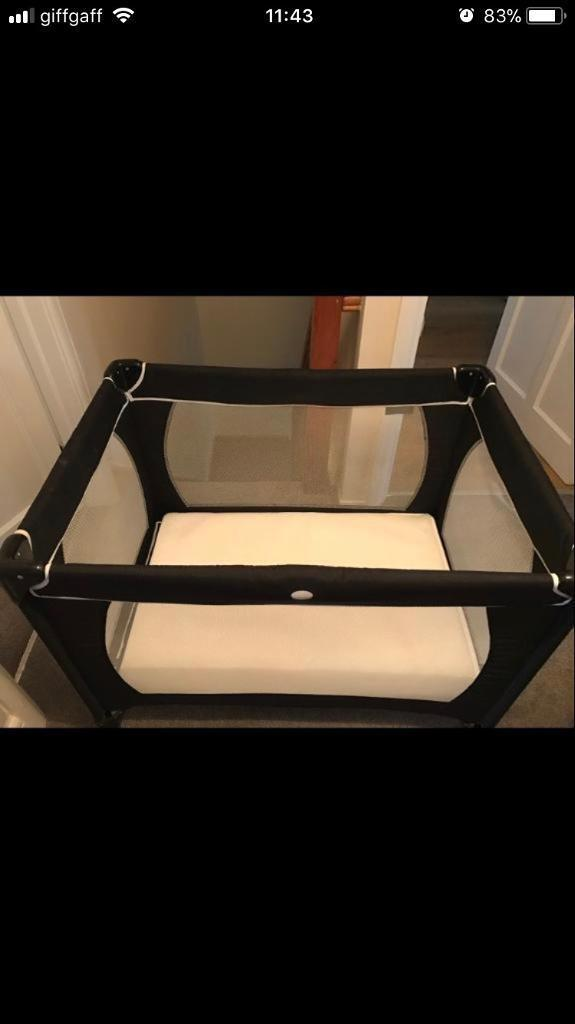 Travel Cot With Foam Mattress 2 X Sheets
