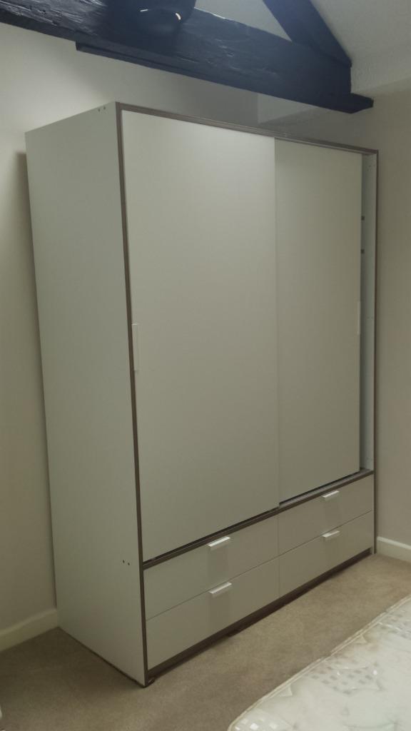 Simple Ikea Glass Cabinet Exploding Ikea Trysil Wardrobe W