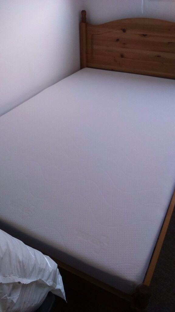 Small Double Bed 4 6 High Density Memory Foam Mattress With 2 Free Pillows
