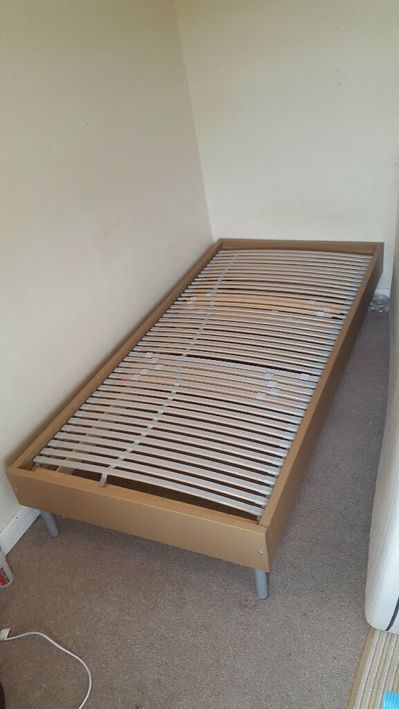 Single Bed With Memory Foam Mattress For Ikea