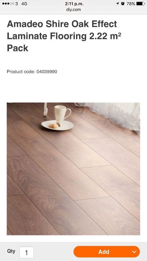 7 Packs Of Amadeo Shire Oak Effect Laminate Floor In Stalybridge Natural Flooring