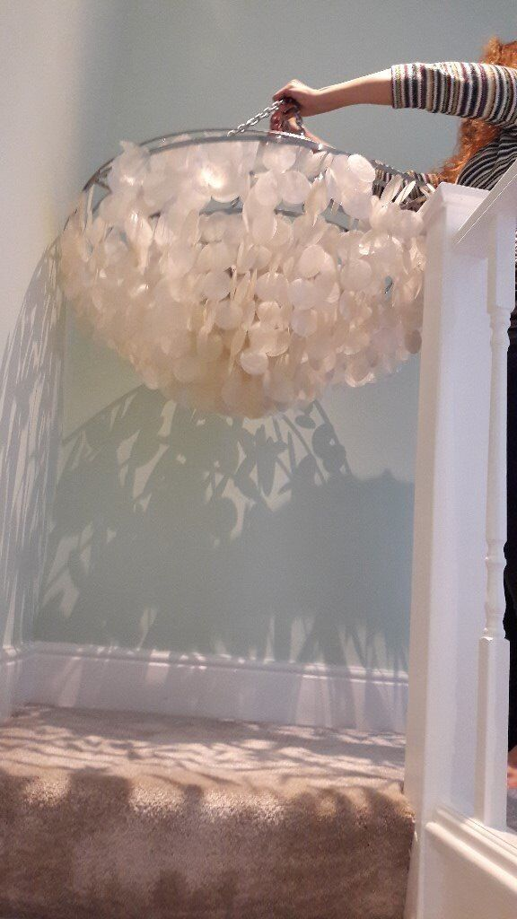Chandelier For Mother Of Pearl Used 70 Was 350