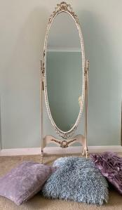 Vintage Full Length Oval Tilting Mirror Could Be Upcycled Also Selling Matching Smaller Mirror In Southampton Hampshire Gumtree