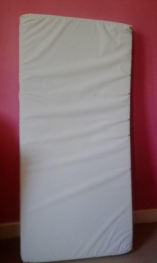 Foam Cot Mattress 118 X 56 8cm Hygienic Wipe Clean Cover Toys R Us