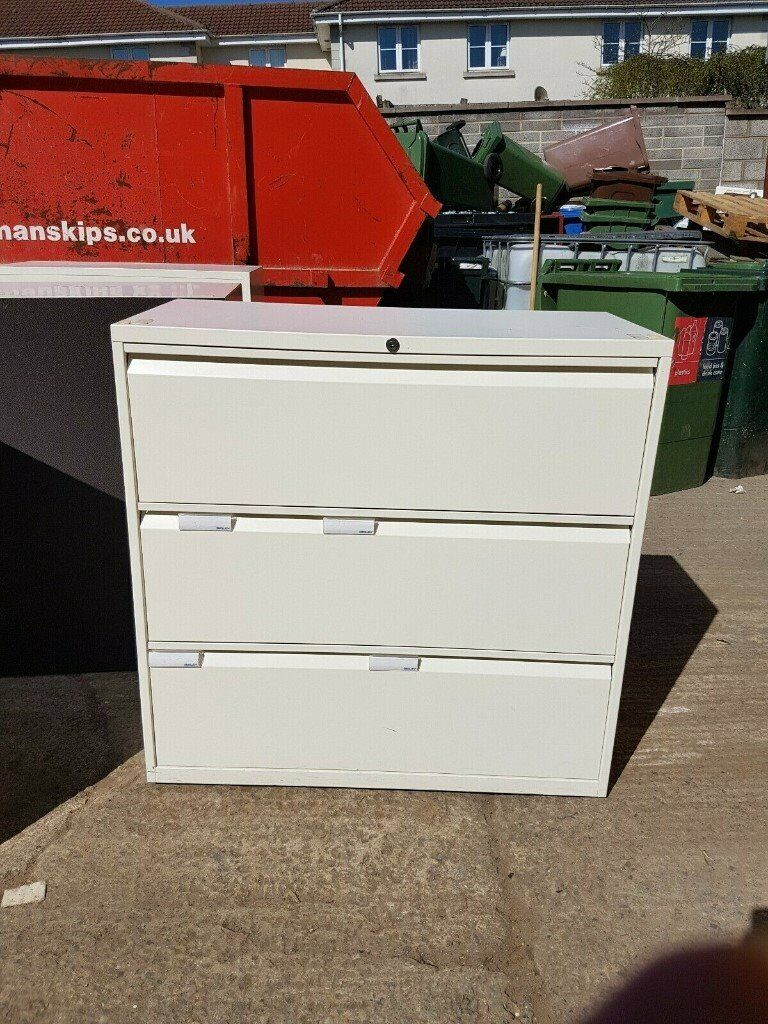 Cream 3 Drawer Lateral Filing Cabinet Tool Storage No Key 12 Available In Kingswood Bristol Gumtree