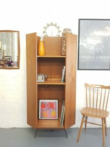 Mid Century Retro Corner Bookcase In South East London