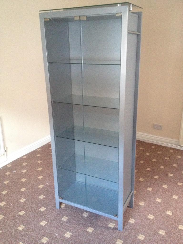 Beautiful Grey Contemporary Bookcase With Detachable Glass Doors Good Condition In Walsall West Midlands Gumtree