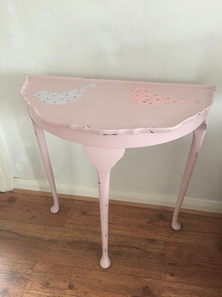 shabby chic pink side table dressing table
