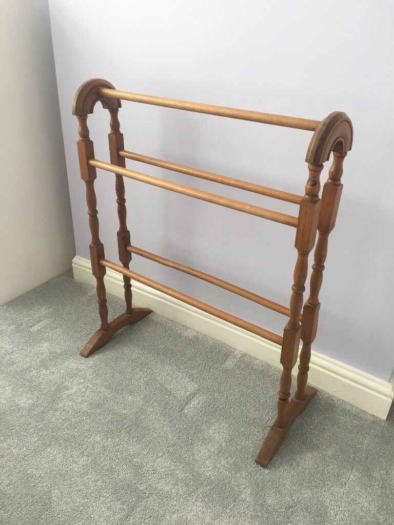 Antique Pine Wooden Clothes Horse In Loughborough