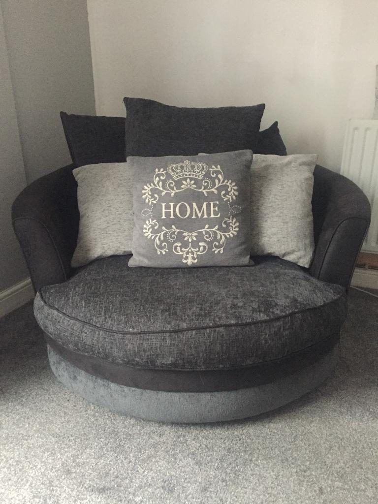 Large Round Swivel Chair From Scs In Stevenage Hertfordshire Gumtree