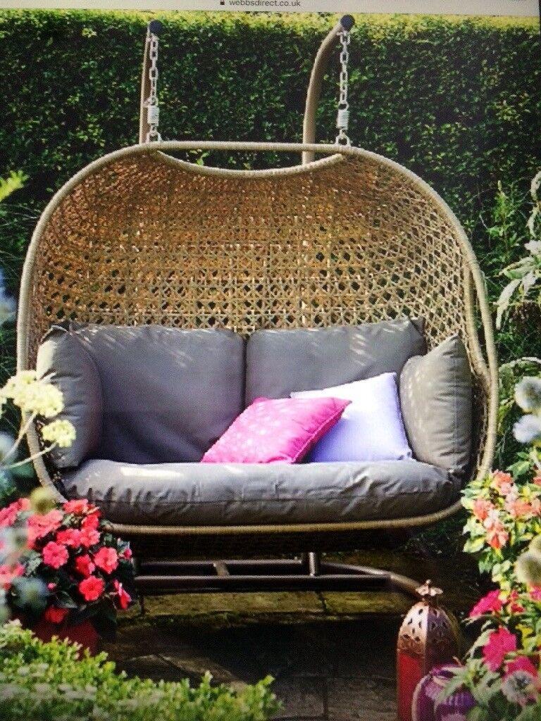 Bramblecrest Frampton Double Hanging Cocoon Seat In