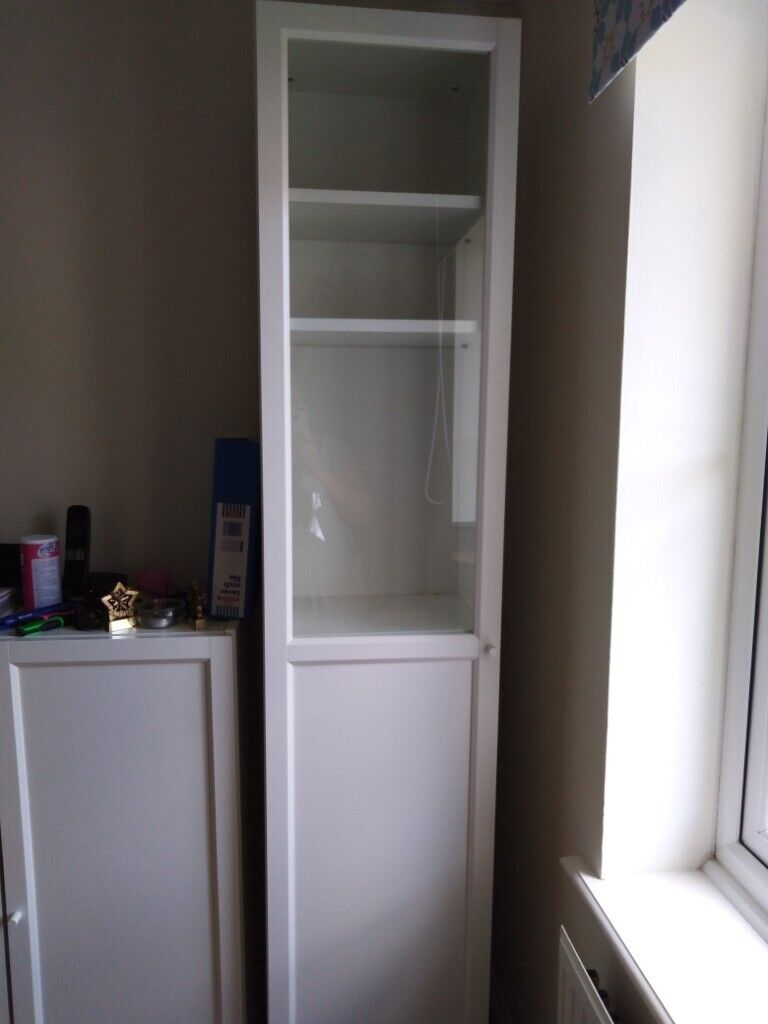 Ikea Tall Billy Bookcase With Half Glass Door In Colchester Essex Gumtree