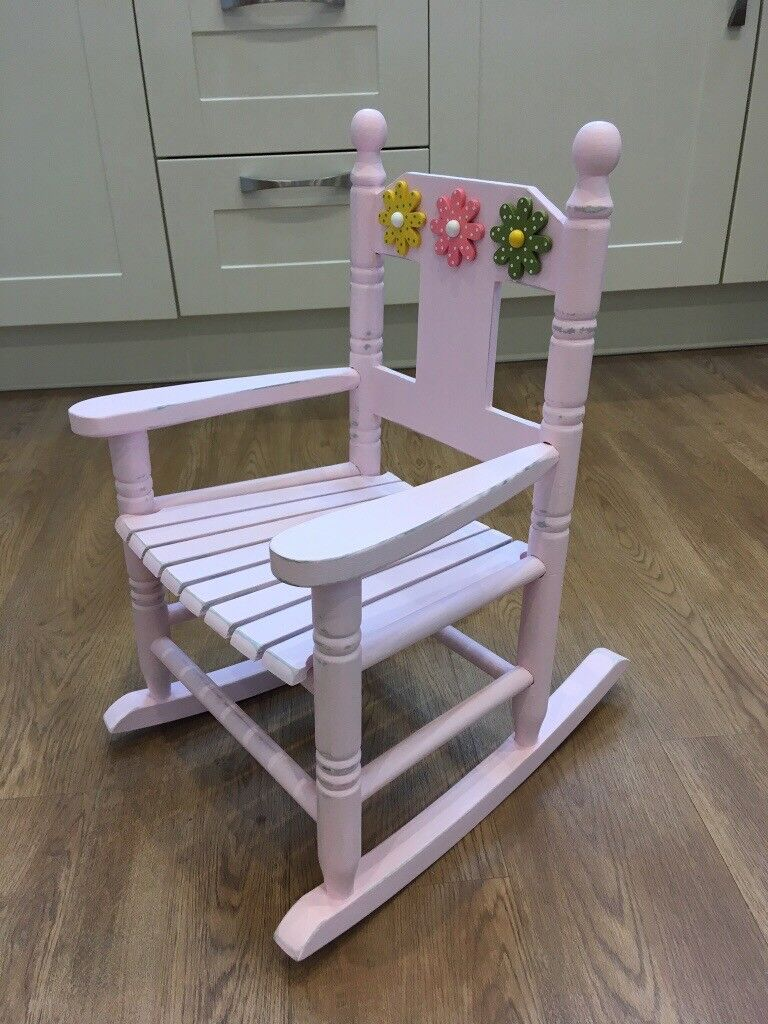 Toddlers Hand Painted Shabby Chic Rocking Chair In Saundersfoot Pembrokeshire Gumtree