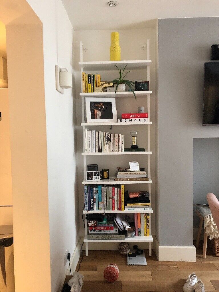 Cb2 White 96 Wall Mounted Bookcase X2 In Notting Hill London Gumtree