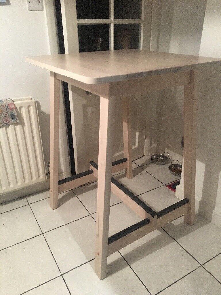 Ikea Norr 197 Ker Breakfast Bar Table White Birch In West